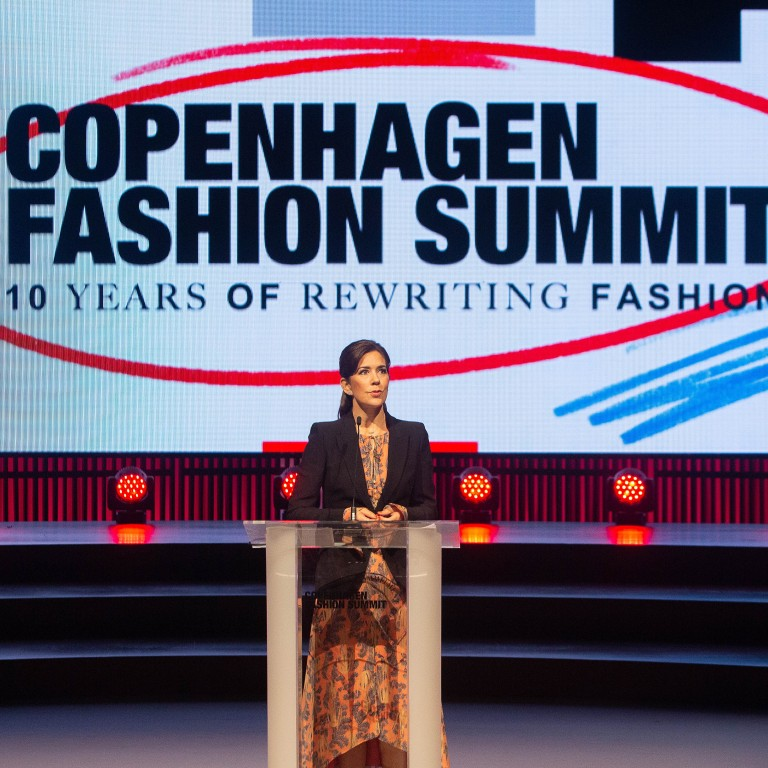 f61a8a97 Mary, Crown Princess of Denmark, patron of the Copenhagen Fashion Summit,  speaks to
