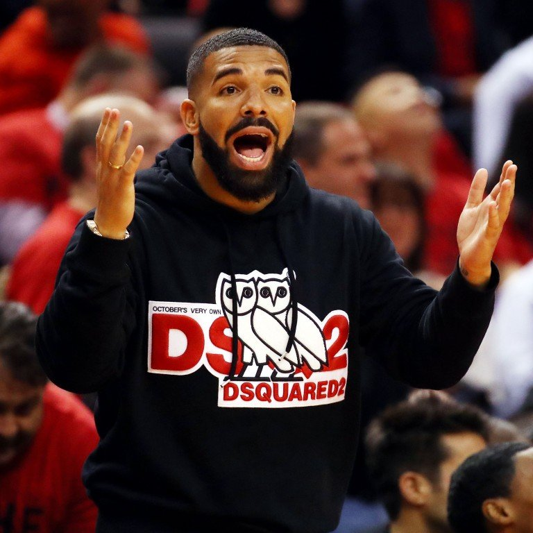 best service bd091 c81b4 Rapper Drake reacts in game four of the NBA Eastern Conference Finals  between the Milwaukee Bucks