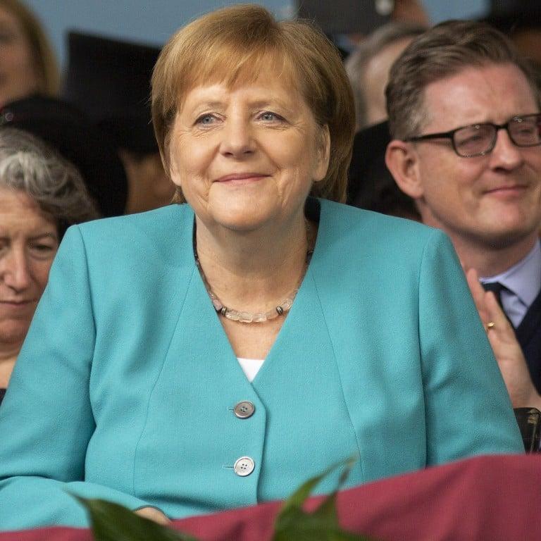 Harvard cheers as Angela Merkel swipes at Donald Trump's politics