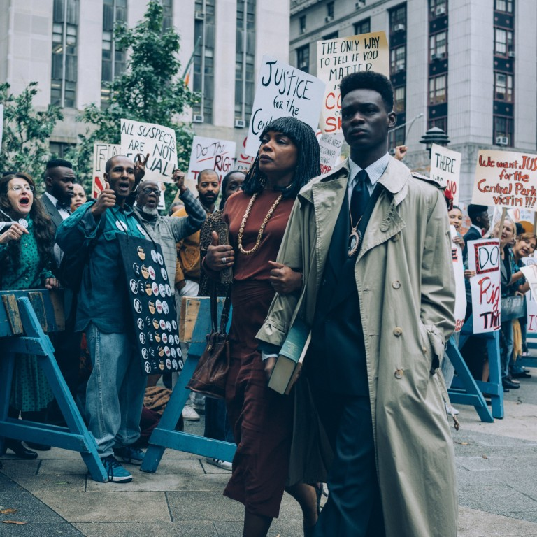 4438e06cd A still from the Netflix miniseries When They See Us. About the Central  Park Five