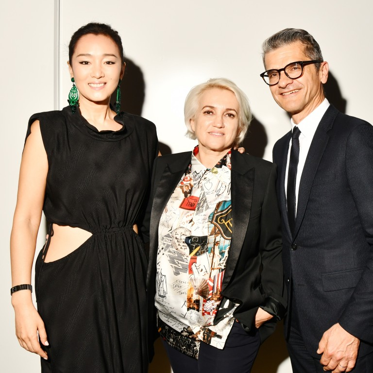 aa836e85b Gong Li, Silvia Venturini Fendi and Serge Brunschwig attend Fendi's themed  party in Shanghai.