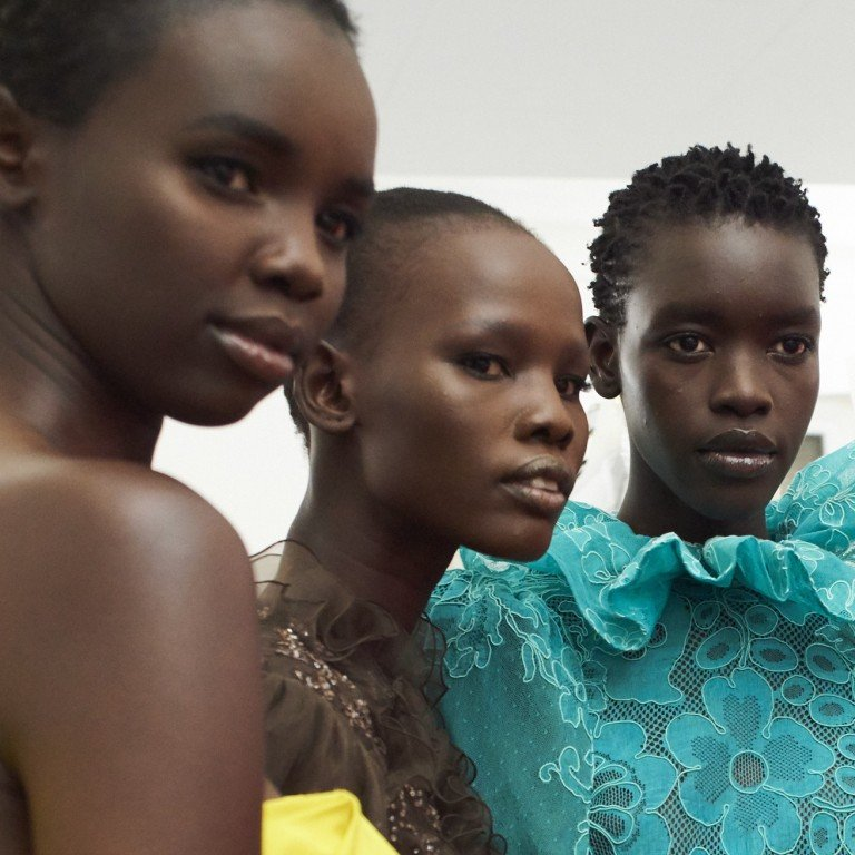 5f622a16a Models Akiima, Shanelle Nyasiase, Ayak Veronica Bior and Nyarach Abouch  Ayel, all of