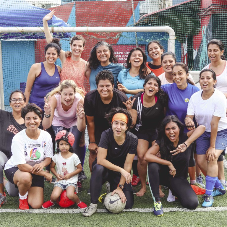 Five-a-side women's soccer in Bangalore, India, for fitness