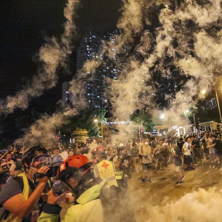 The night quiet Hong Kong working-class neighbourhood Wong Tai Sin