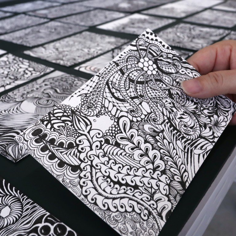 Forget adult colouring books - Zentangle is the new way to ...