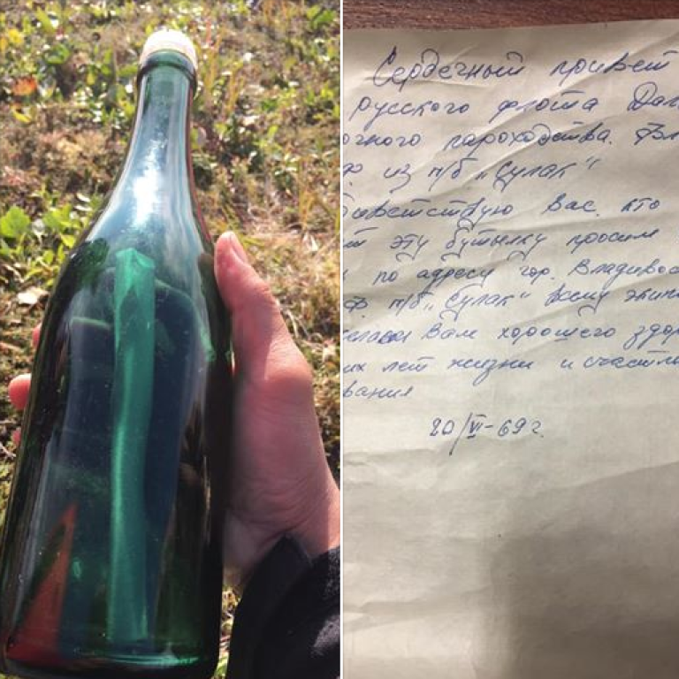 Image result for alaskan-man-discovers-50yr-old-russian-message-in-a-bottle