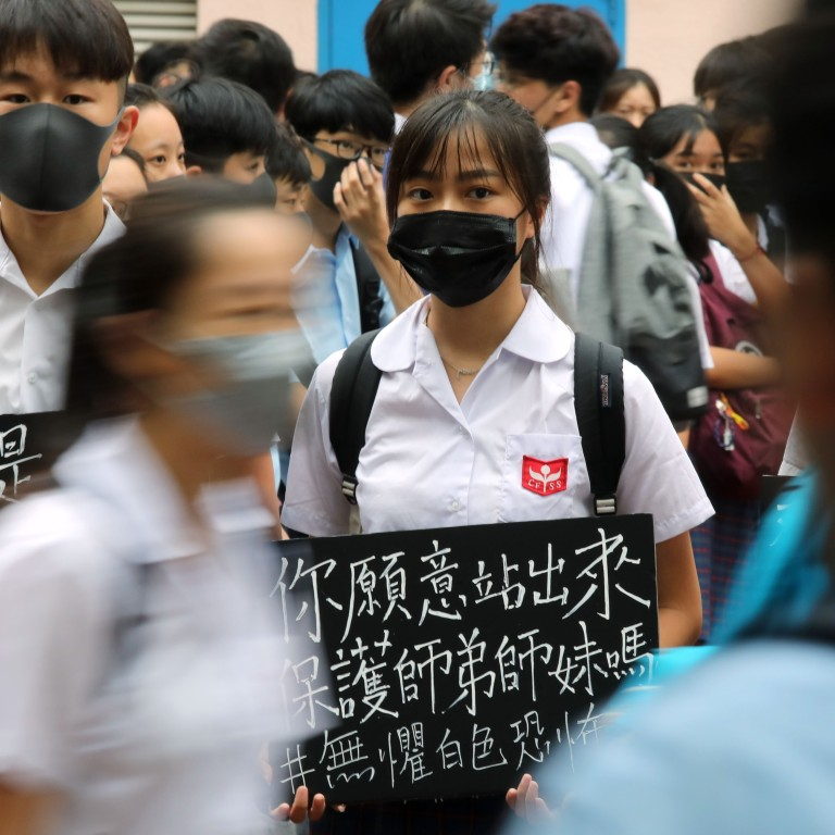 School says students who join Hong Kong class boycott with