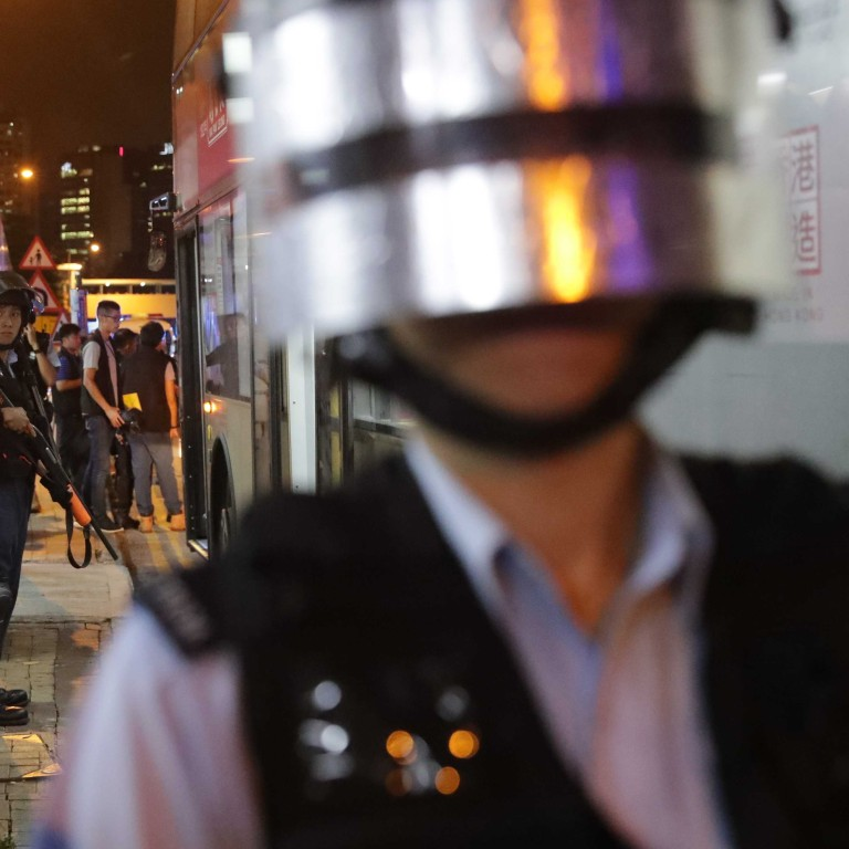 Hong Kong protests: police use pepper spray against angry