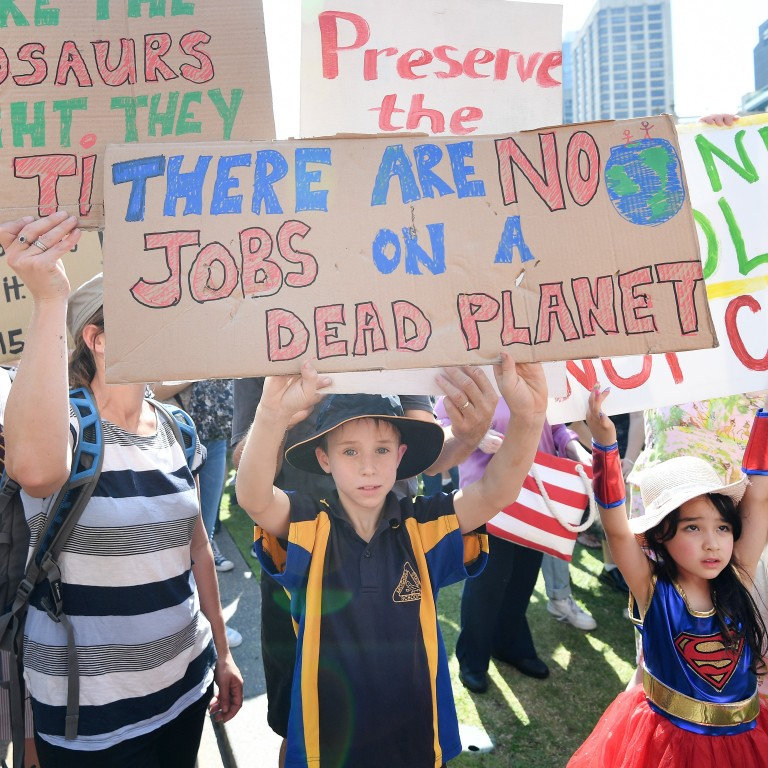 Young people participate in the Global Strike 4 Climate rally in Brisbane, Australia, on September 20. Following decades of sound science and evidence of rapid ecological deterioration, the world's youth is now also making its voice heard. Photo: EPA-EFE