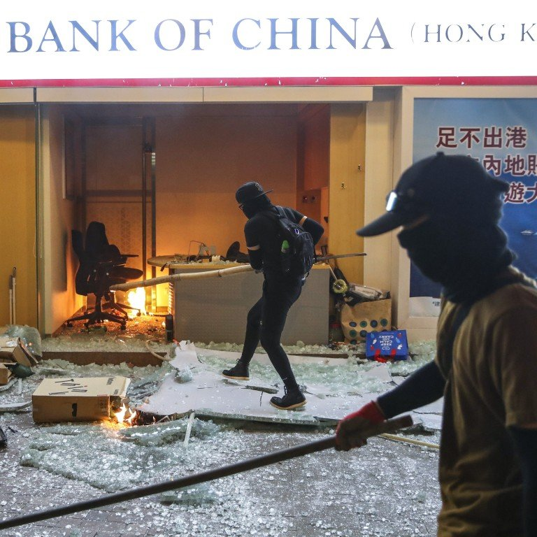 Rampaging Hong Kong protesters bring large parts of city to ...