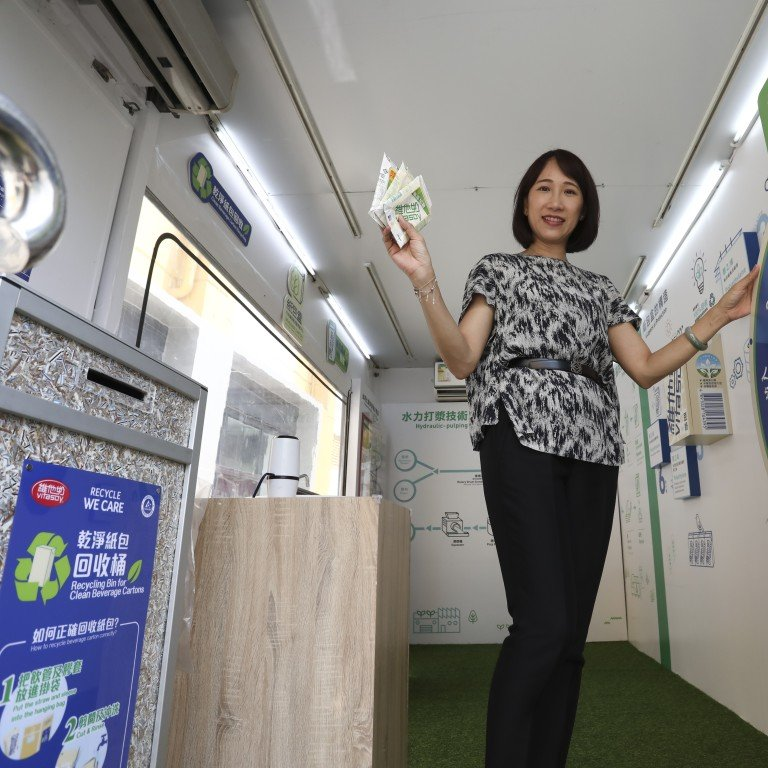 Vitasoy Hong Kong CEO Dorcas Lau at the Vitasoy factory in Tuen Mun. Photo: Jonathan Wong