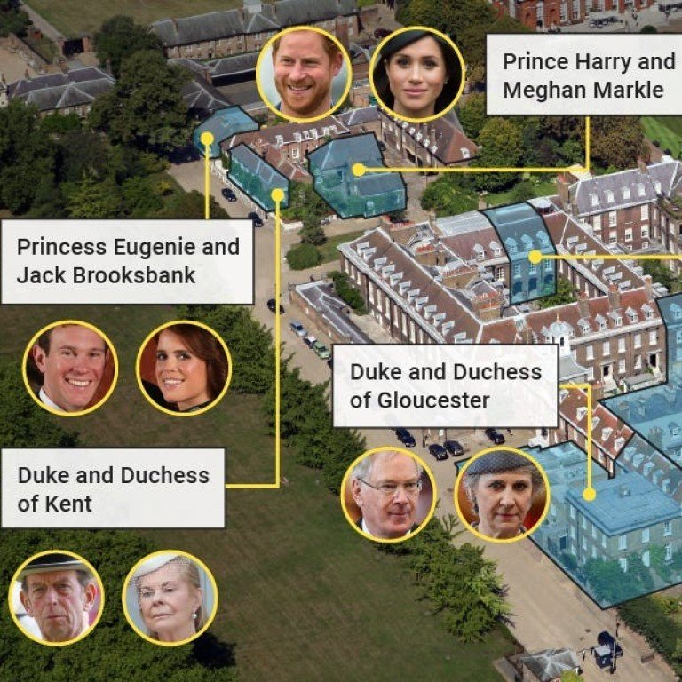 why aren t prince harry and meghan markle neighbours with prince william and kate middleton any more where all the british royal family members really live south china morning post why aren t prince harry and meghan
