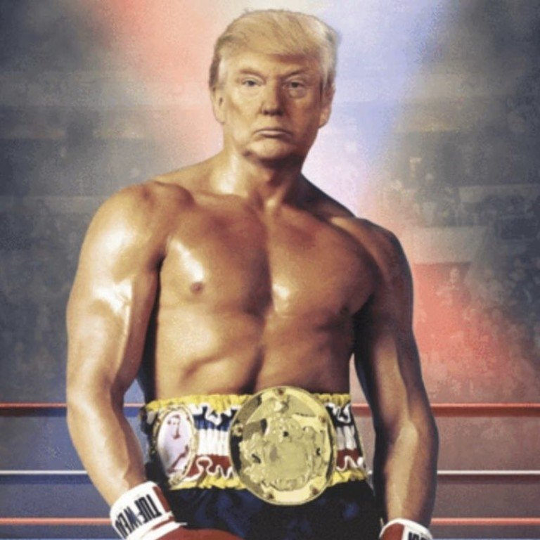 Donald Trump brags about his 'gorgeous chest' at rally after tweeting image  of himself as Rocky | South China Morning Post