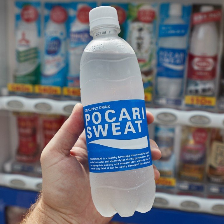 Pocari Sweat is hard to miss in vending machines throughout Japan and elsewhere in its distinctive blue and white bottles and cans. By the 1990s, the rehydrating sports drink became the first Japanese non-alcoholic beverage with shipments topping US$1 billion. Photo: Shutterstock