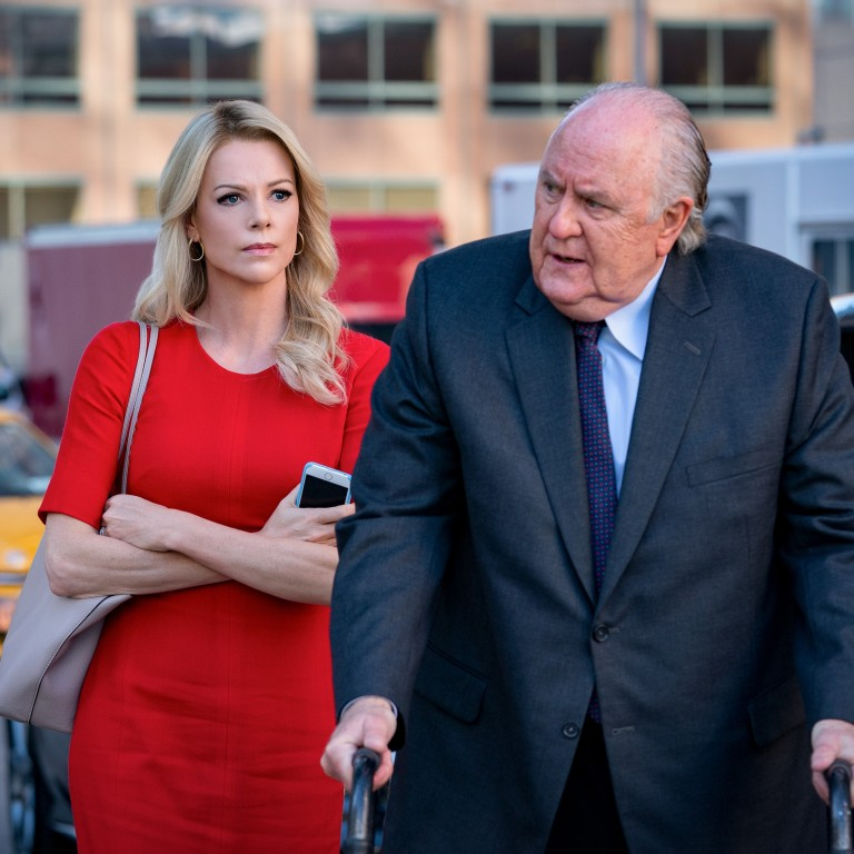 Charlize Theron and John Lithgow in Bombshell (category: IIB), directed by Jay Roach and also starring Nicole Kidman and Margot Robbie. Photo: Handout
