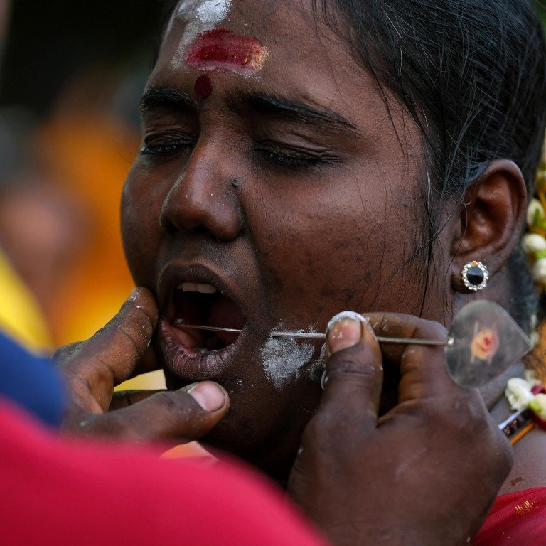 No Pain How Extreme Body Piercing Of Thaipusam Hindu Festival