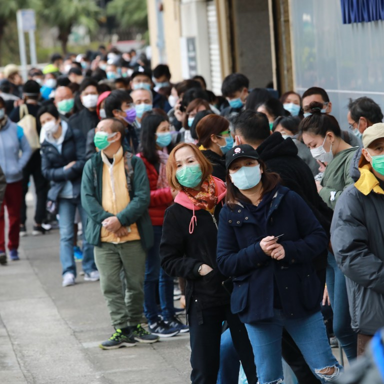 Coronavirus: desperate scenes as 10,000 queue for masks at Hong Kong  industrial estate | South China Morning Post