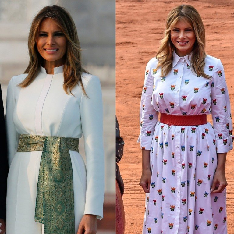 Melania Trump In India What Political Statements Did The First Lady S Wardrobe Make And Which Brands Were In Her Suitcase South China Morning Post