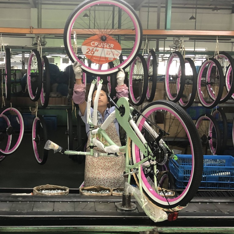 China's production of bikes in May increased by 44.6 per cent from a year earlier to 4.25 million units, according to the Ministry of Industry and Information Technology, after having increased 27.5 per cent in April. Photo: Sidney Leng.