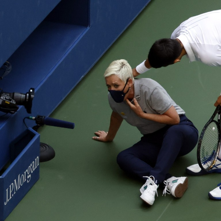 Us Open Novak Djokovic Apologises After Being Disqualified For Hitting Line Judge South China Morning Post