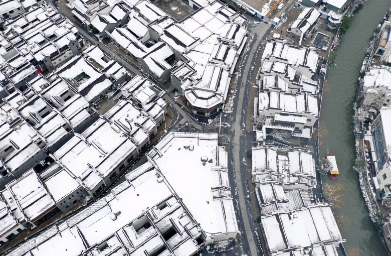 Snow blankets eastern China