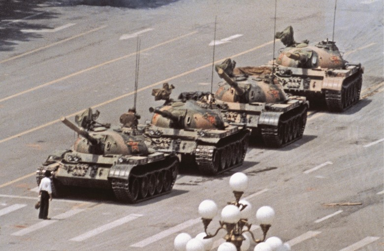 They put the Tank Man on booze bottles, and got punished