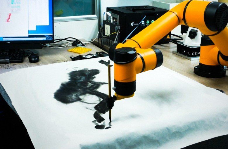 This robot can make you traditional Chinese paintings, for a price