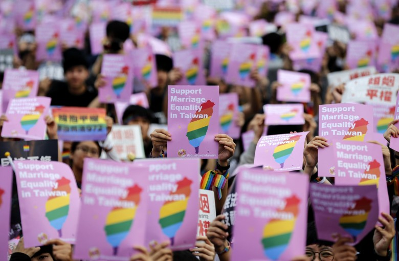 Taiwan legalized gay marriage, and mainland China is all over it