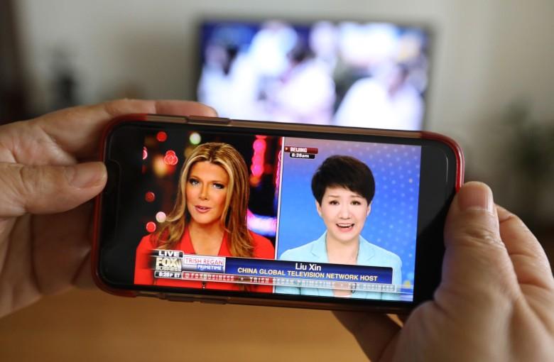 CGTN, Fox anchors trade soft blows in live show