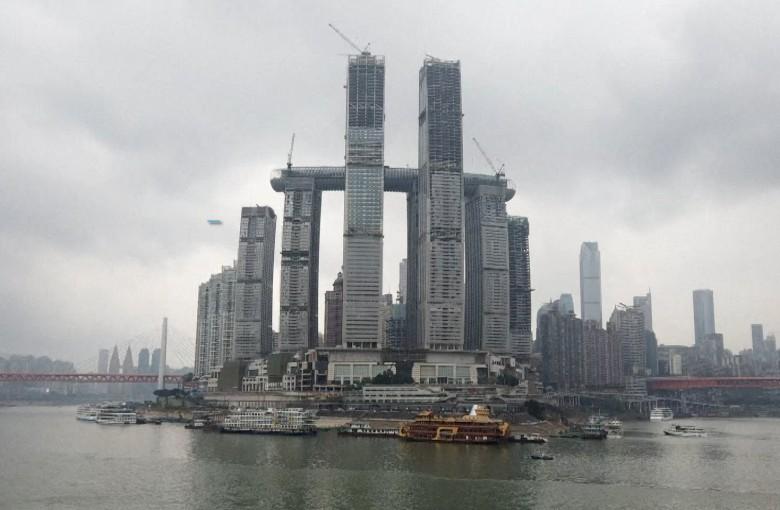 China's $4.8 billion 'horizontal skyscraper' is almost done