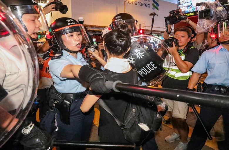 Anti-extradition activists clash with police in Hong Kong