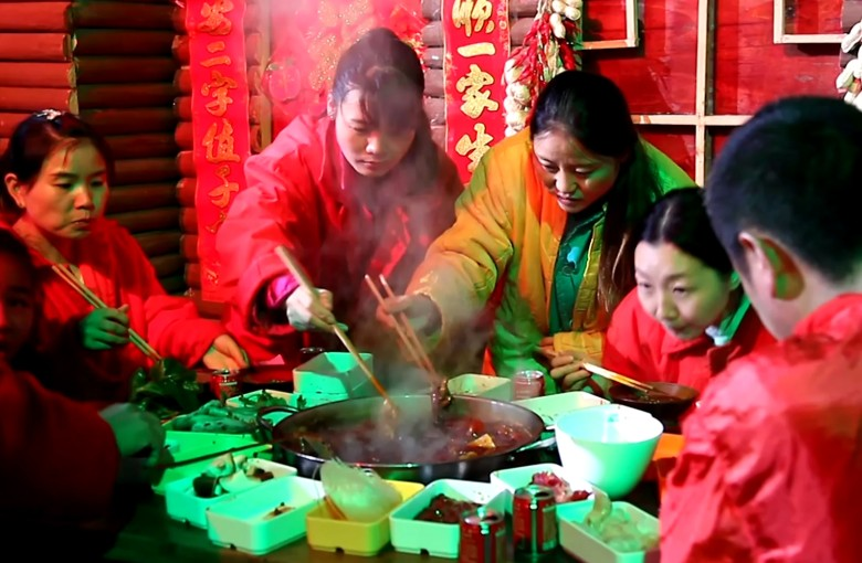 Hotpot in an icy cave