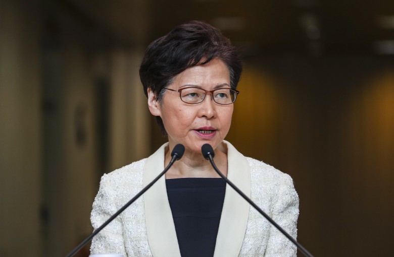 Hong Kong leader says she's never offered to resign