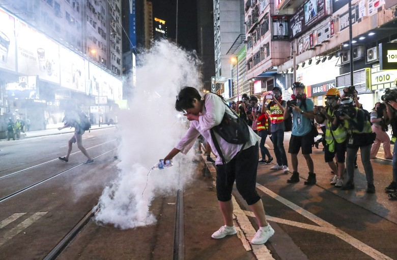 US lawmakers seek to ban tear gas exports to Hong Kong