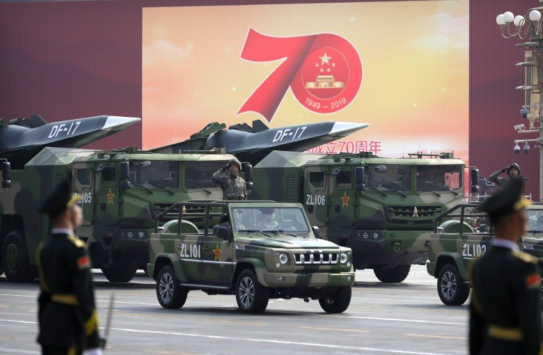 China shows off its biggest guns for the first time