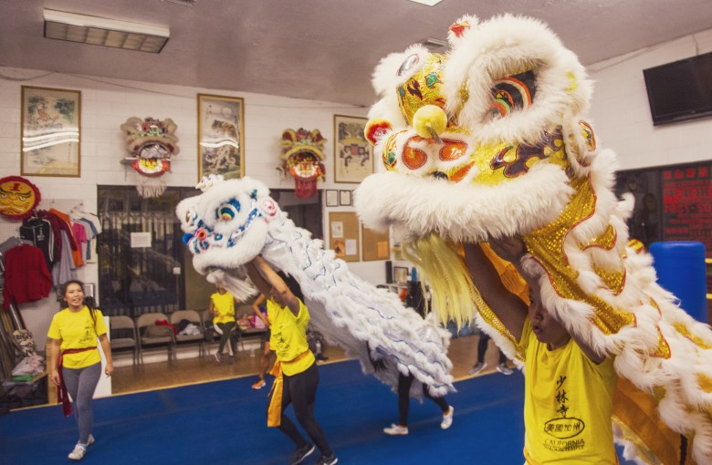 Lion dancing isn't just a sport for boys