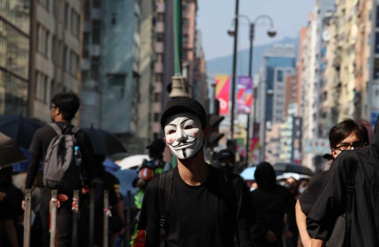 Halloween protests to test Hong Kong's ban on masks
