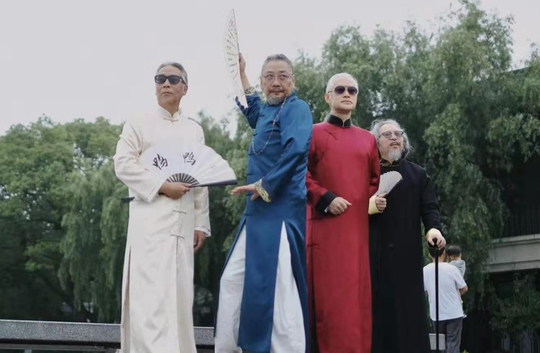 Cool 'grandpas' in China age with style