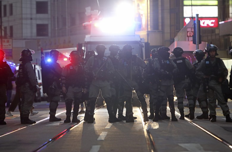 Hong Kong police say bombers planned to target officers at weekend rally