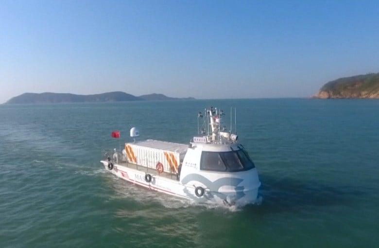 China's first driverless cargo ship sets sail