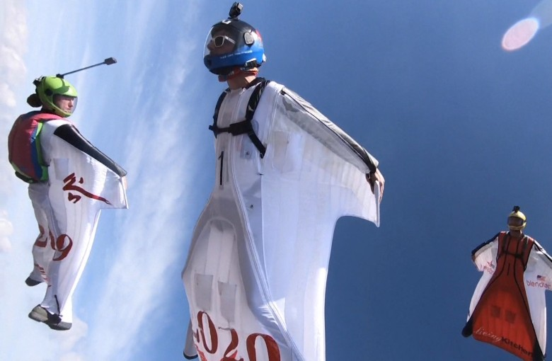Wingsuit flying tournament in China