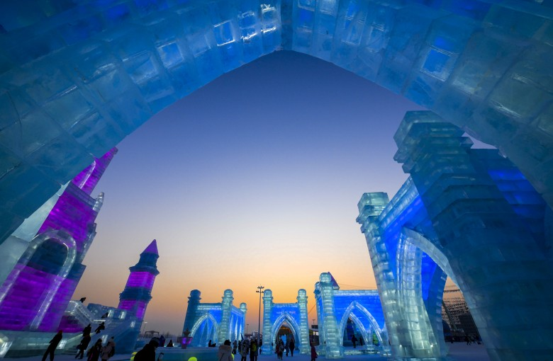 China's world-famous ice festival is a feast for the eyes