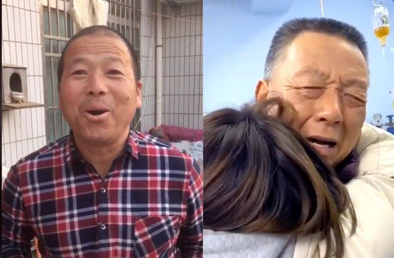 Chinese people surprise their parents for Lunar New Year