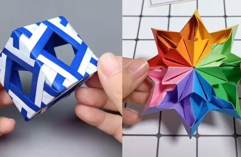 Woman gives 'life' to paper crafts