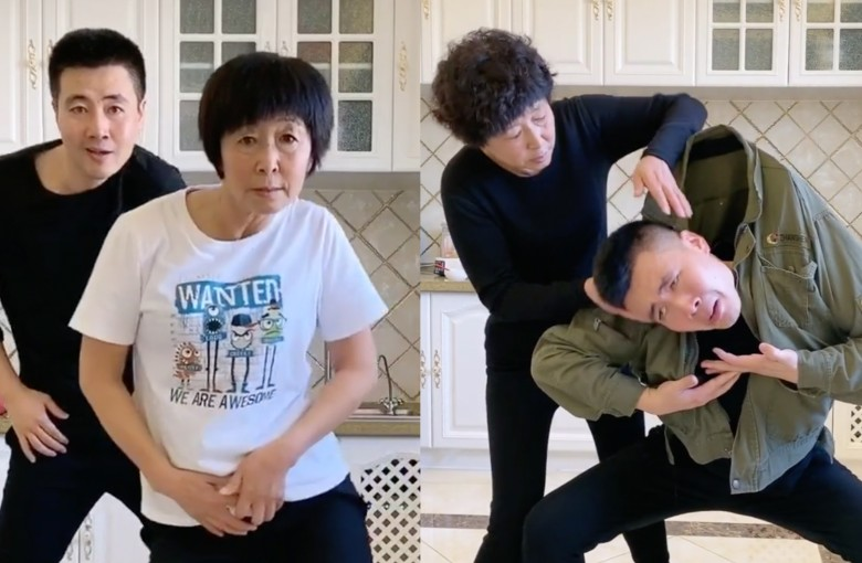 Mother and son's dance moves take China's internet by storm