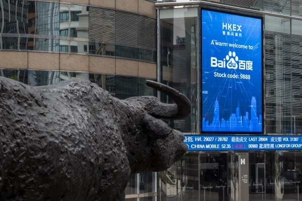 Baidu is one of several Chinese tech firms to offer a secondary listing in Hong Kong in recent years. New rules in the US could make it difficult for Chinese companies to remain listed in New York. Photo: Bloomberg