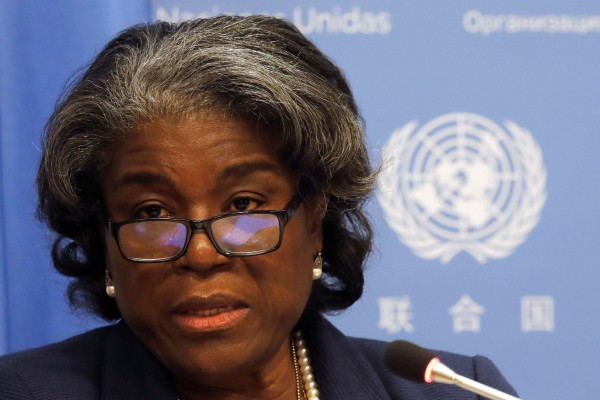 US Ambassador to the United Nations Linda Thomas-Greenfield. Photo: Reuters