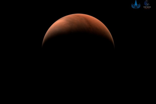 An image of Mars taken by China's Tianwen-1 unmanned probe. Image: China National Space Administration via Reuters