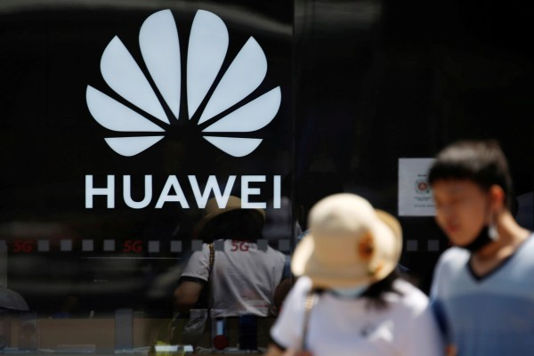 A Huawei logo on the facade of its store at a shopping complex in Beijing, China July 14, 2020. Photo: Reuters