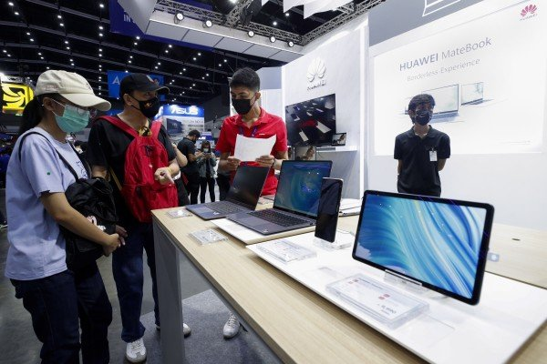 Huawei Technologies Co's so-called 8+N businesses include its line of laptop computers, smartwatches, apps and file-sharing systems. Photo: EPA-EFE